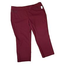 Counterparts Pants 26W Plum Purple Cropped New From Dressbarn Pull On Elastic W