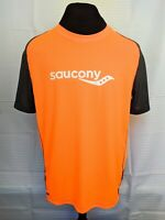 Mens Sporting T-Shirt Saucony Running Short Sleeve Size L