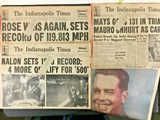 1948 Indy 500 20+ Indianapolis Times News Clippings Mauri Rose Nalon Novi IMS