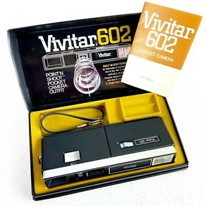 Vintage Vivitar 602 Point N Shoot Pocket Camera With Manual PARTS ONLY