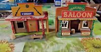 2 Ancien Décors Far West SHERIFF & YORK HOTEL SALOON Starlux 1970 Vintage