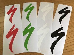 "2x Specialized ""S"" Sticker  Decal  Logo die cut vinyl Bike MTB Downhill Car VAN"