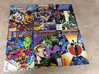 JUSTICE LEAGUE TASK FORCE #19,20,21,22,23,25 LOT OF 6 COMIC NM 1995 DC
