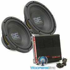 "pkg 2 MEMPHIS SE1040 10"" SUBWOOFERS + PRECISION POWER TRAX1.1200D BASS AMPLIFIER"