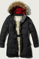 WOOLRICH with Abercrombie & Fitch Patrol Parka 650 Real Down Fill Large Navy