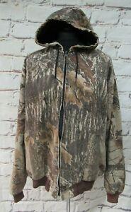 Walls Realtree hunting camouflage Hooded denim bomber jacket 3XL Tall