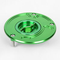 Gas Cap For Kawasaki ZX6R ZX636 ZX9R ZX10R 2003-2009 Keyless CNC Fuel Green US