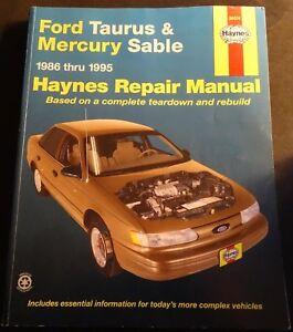 1986-1995 HAYNES FORD TAURUS & MERCURY SABLE REPAIR SERVICE MANUAL 36074 (206)