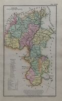 1808 Oxfordshire Original Antique Hand Coloured County Map 212 Years Old