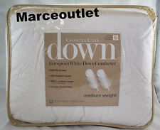 Charter Club Medium Weight FULL / QUEEN European White Down Comforter