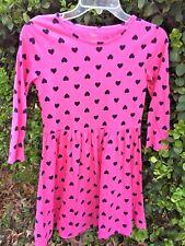 THE CHILDREN'S PLACE Pink Hearts Mommy & Me Leggings Church Dress Girls Sz XL 14