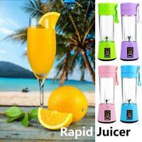 380ml Portable Mini Juicer USB Rechargeable Blender Mixer Juice Machine Kitchen