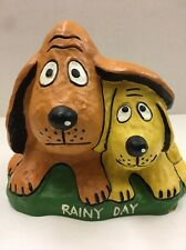 vnt The World Of George Feyer Rainy Day Two Dog Small Piggy Bank Jl060617B