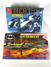 Amt Ertle Batman Returns Batmobile 6877 Batskiboat 6615 Model Kits