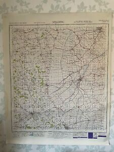 1949 Military System Map Spalding War Office Edition Lincolnshire Stamford