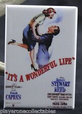 "It's A Wonderful Life Movie Poster 2"" X 3"" Fridge Magnet. Jimmy Stewart!"