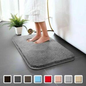 2 Pack Round Bathroom Rugs 60CM Velvet Bath Mat Non-Slip Door Carpet Soft Luxury Microfiber Machine-Washable Floor Rug for Doormats Tub Shower-WWE