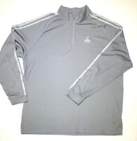 Adidas Men Half Zip  Athletic Pullover Climalite Size Extra Large Gray Golf