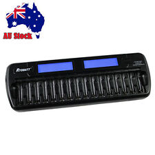 Rechargeable 16 Slot Multi LCD Smart Battery Charger for Ni-MH Ni-Cd AA AAA NEW