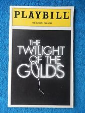 The Twilight Of The Golds - Booth Theatre Playbill - October 1993 - David Groh
