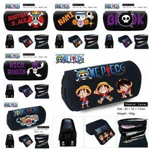 Anime One Piece Pencil Case Segeltuch Federmäppchen Kosmetiktaschen Geschenk A1
