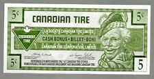 CANADA 1996 CANADIAN TIRE MONEY, NOTE OF 5c  CIRCULATED  COND.