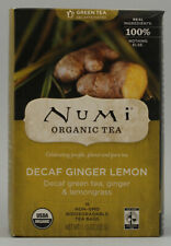 Ginger Lemon Green Tea, Numi Organic Tea, 16 tea bag Decaf