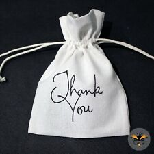 White Thank you Gift Bags, Wedding Favour Bags, Party Favour Packaging