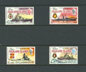 Falkland Islands 1974 SG 307-10 Battle of River Plate Ships MH