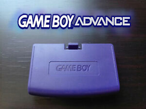 Cache Piles GameBoy Advance Violet GBA Battery Cover Purple Dark-Blue