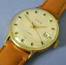 Authentic Czechoslovak PRIM Gents watch from 1980s Gold Plated