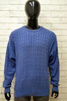 Maglione Uomo FILA Taglia Size 50 Maglia Pullover Sweater Man Blu Vintage Cotone