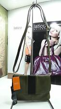 NWT LATICO X-Body Bag Olive Hair Calf Leather W/3 Compartments &Flap