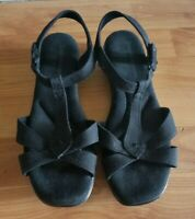 Women's GRASSHOPPERS ROSE Black Open Toe Sandals Shoes sz 8.5 W