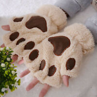 Women Winter Wrist Arm Warmer Knitted Keyboard Long Fingerless Gloves Mitten US