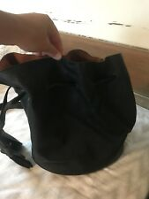 free people purse Cross Body Bucket Bag Foux Leather Pleather Black