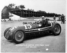1949 Lee Wallard Indy 500 Maserati Auto Course Voiture Photo Vieux Tribune Étiré