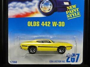 OLDS 442 W-30, Hot Wheels #1995-267, Yellow w/ Black, 7SP wheel variation