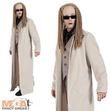 Matrix Twins Costume + Glasses The Matrix Movie Mens Fancy Dress Adult Outfit