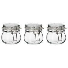 Set of 3 IKEA KORKEN Small Glass Jam Preserving Jars (7cm/13cl)