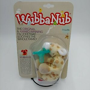 New WubbaNub Infant Baby Pacifier Plush Giraffe 0-6 Months