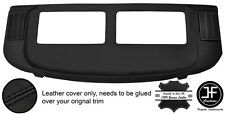 BLACK STITCH REAR PARCEL SHELF REAL LEATHER COVER FOR MERCEDES S CLASS SEC W126