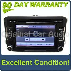 VW Volkswagen RCD-510 Radio Stereo 6 Disc Changer MP3 CD Player Touch Screen OEM