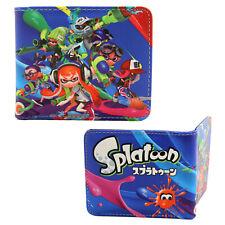 """Splatoon Bi-Fold Wallet - INKLINGS New Credit Card Billfold (4x5"""")"""