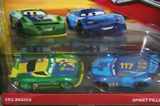 "DISNEY PIXAR CARS 3 ""2 PACK ERIC BRAKER & SPIKEY FILLUPS"" IMPERFECT PACKAGE"