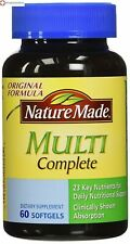 Nature Made Multi Complete with Iron 60 Counts 23 Key Nutrients