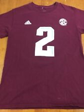 Texas A&M Aggies Johnny Manziel T-shirt Size S Adidas SEC ~ FREE SHIPPING!!