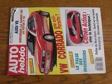 $$$ Revue Auto Hebdo N°641 VW CorradoCitroen ActivaIngenieurs F1Mont-Blanc