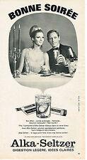 PUBLICITE ADVERTISING 074  1966  ALKA SELTZER   digéstion lègère