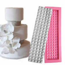 3D Silicone Long Square Diamond Fondant Mould Cake Border Icing Sugar Mold Decor